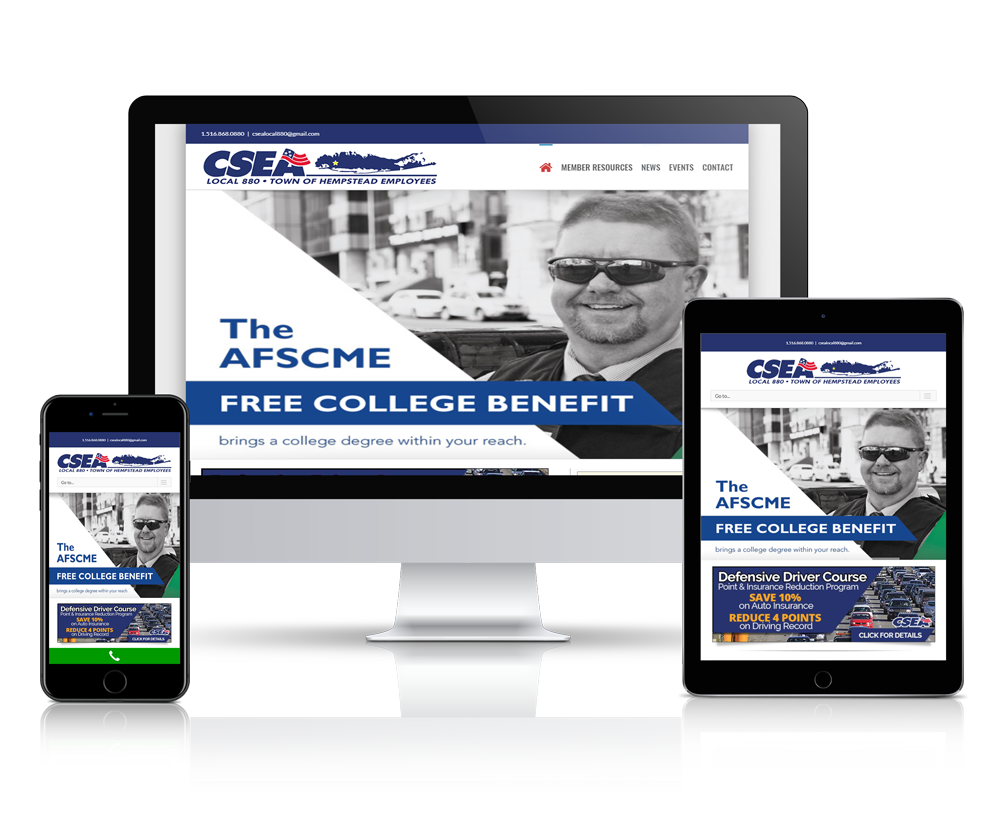 CSEA Local 880 - Responsive Website