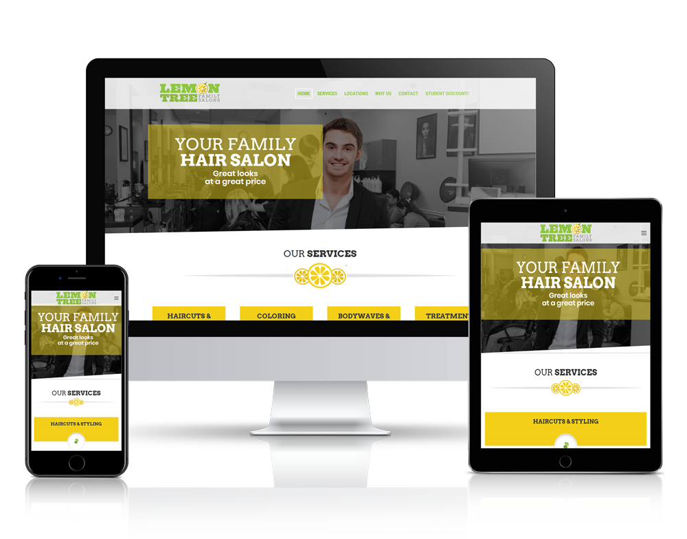 Website Design for Lemontree Family Salons