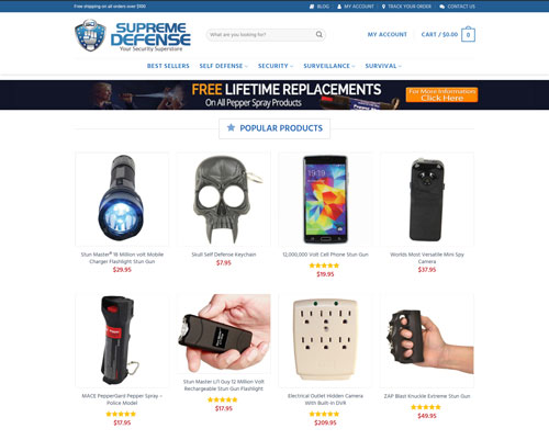 Supreme Defense - Self Defense & Surveillance Products
