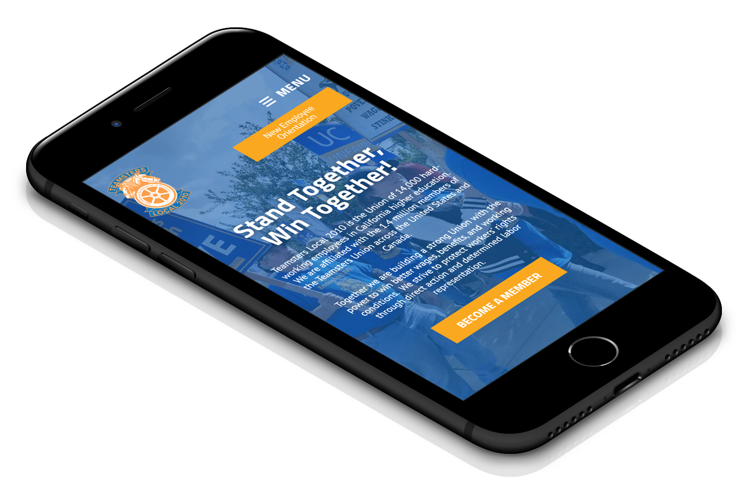 Teamsters Website on Mobile Device