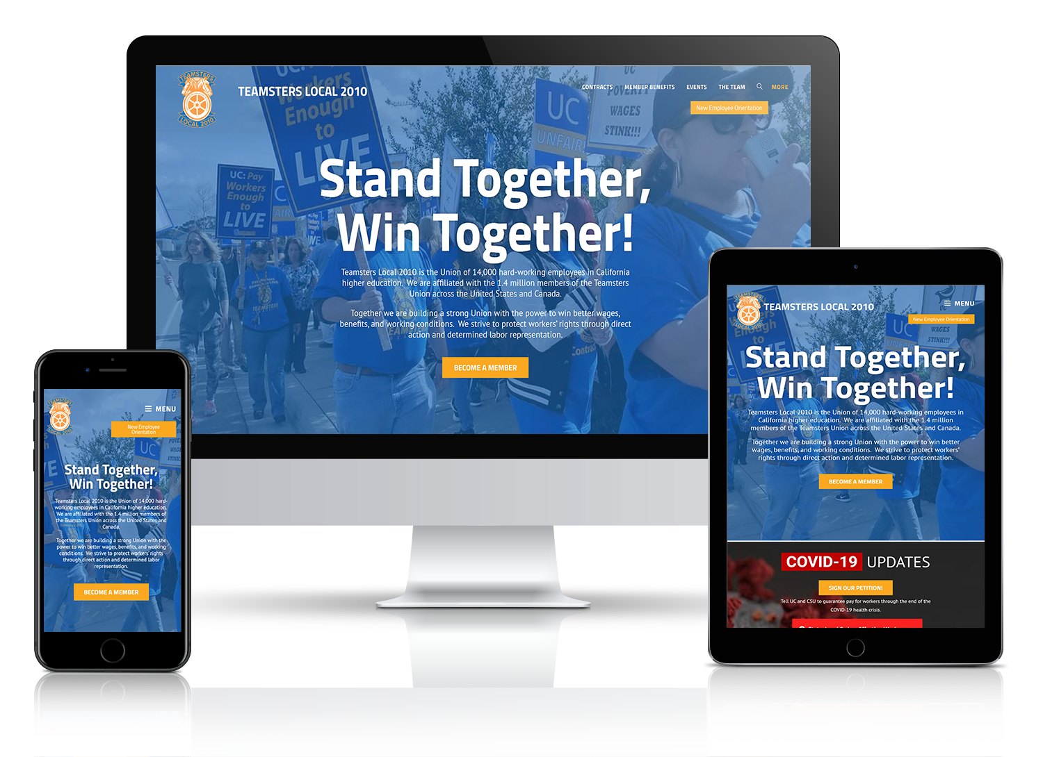 Website Design for Teamsters Labor Union