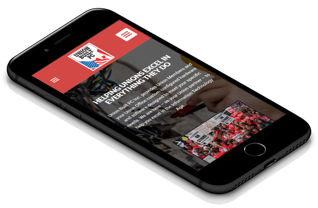 Union Built PC Mobile Website - Long Island Web Design