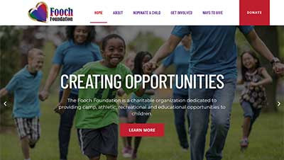 Screenshot of website we built for Fooch Foundation