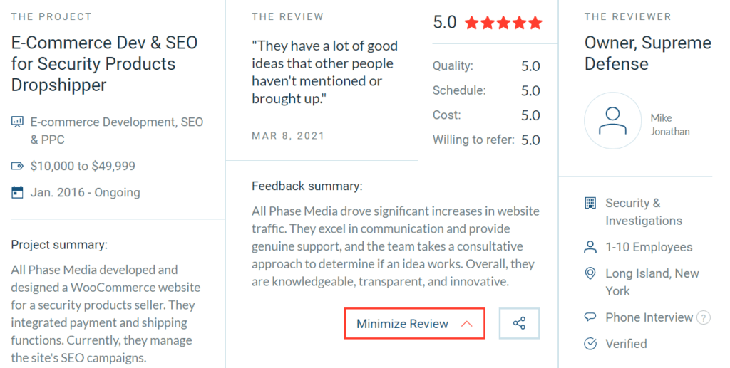 All Phase Media is Proud of its Five-Star SEO Service all phase media seo services clutch